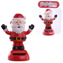 1x Jingle Jivers Christmas Cute Santa Claus Solar Pal