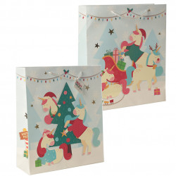 12x Cute Christmas Animals Gift Bag - Extra Large