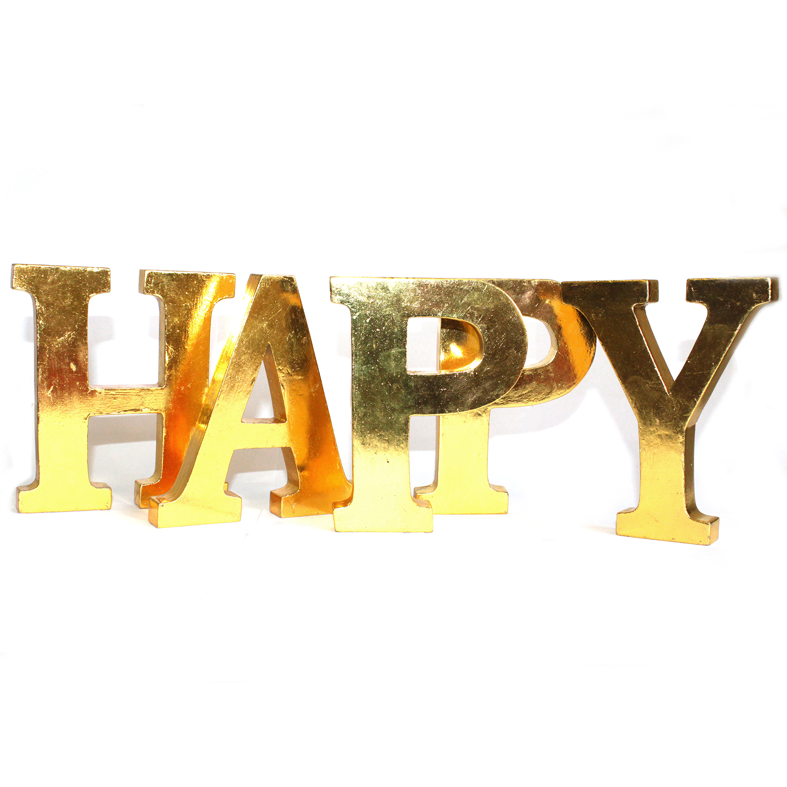 Shabby Chic Letters Gold - HAPPY