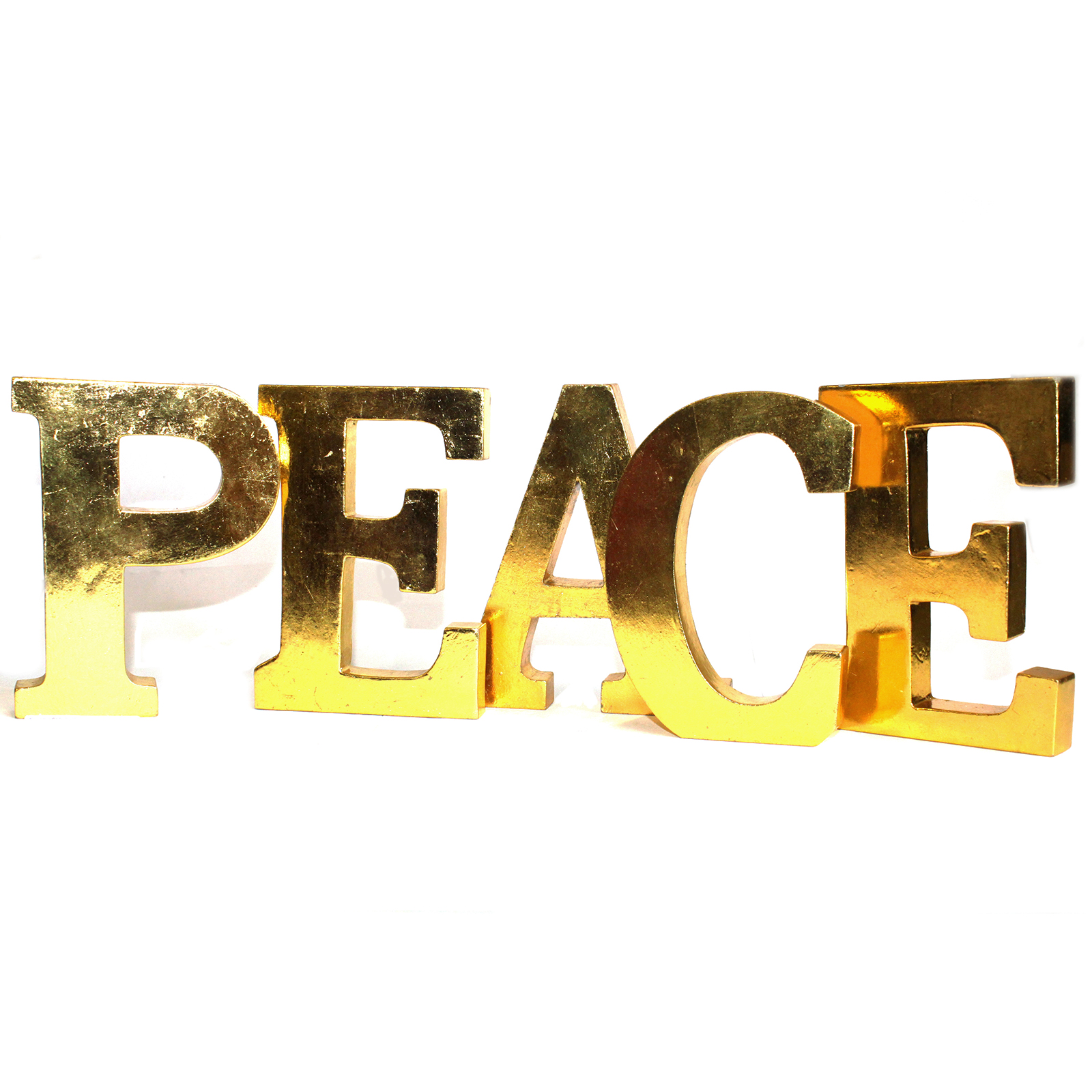 Shabby Chic Letters Gold - PEACE